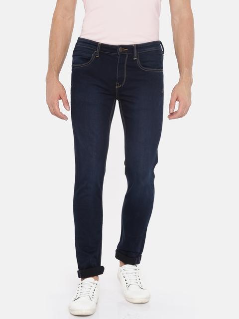 Arrow Blue Jean Co. Men Blue Justin Skinny Fit Mid-Rise Clean Look Jeans