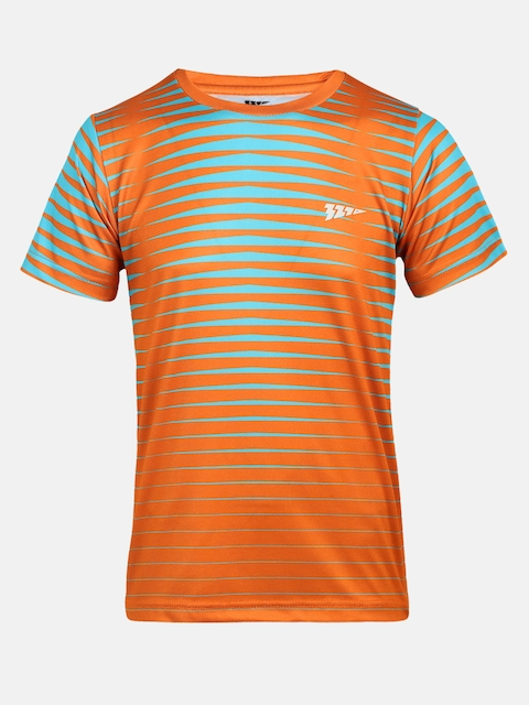 321 Sportswear Boys Orange & Green Printed T-shirt