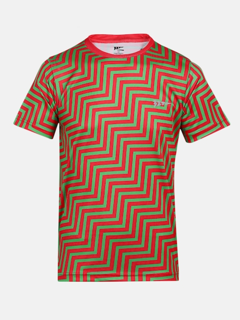 321 Sportswear Boys Red Printed Round Neck T-shirt
