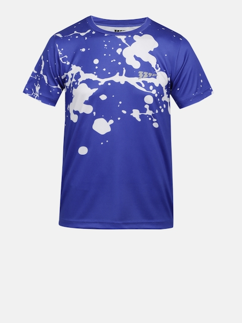 321 Sportswear Boys Blue Printed Round Neck T-shirt