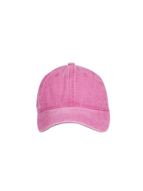 Ayesha Women Pink Solid Baseball Cap