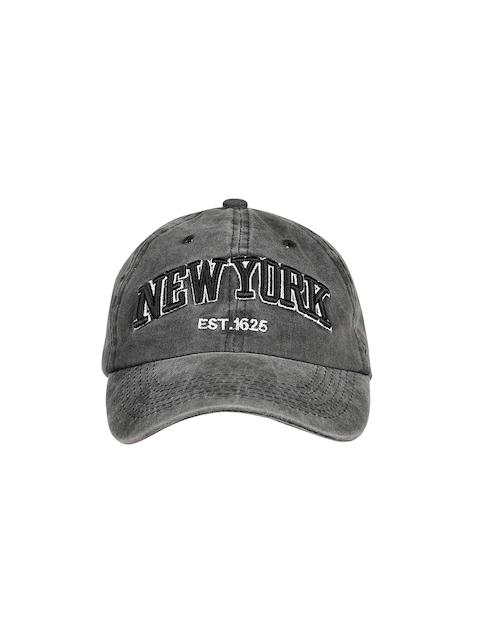Ayesha Women Grey Embroidered Baseball Cap