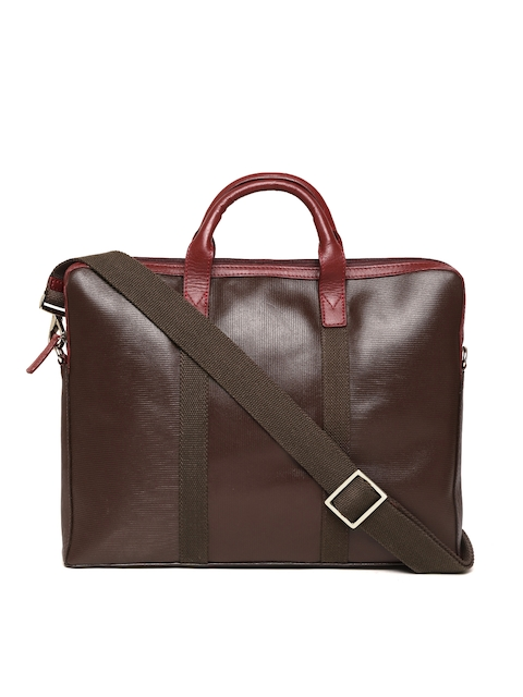 Holii Men Coffee Brown Handcrafted Textured Natural Leather Messenger Bag
