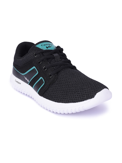 Campus Men Black BATTLE X-13 Running Shoes