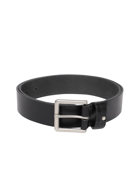U.S. Polo Assn. Men Black Solid Belt