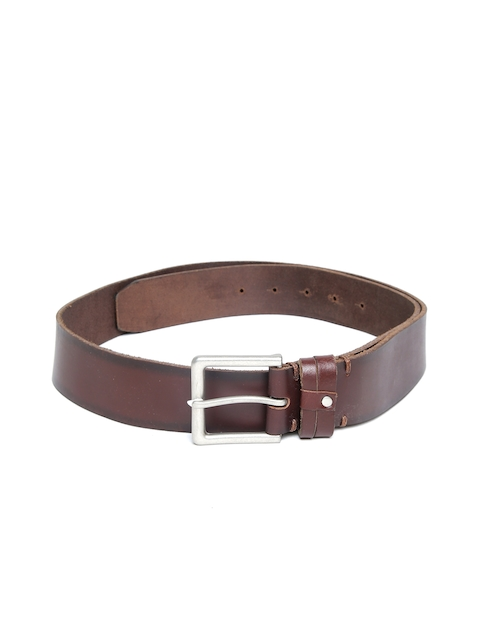 U.S. Polo Assn. Men Brown Leather Solid Belt