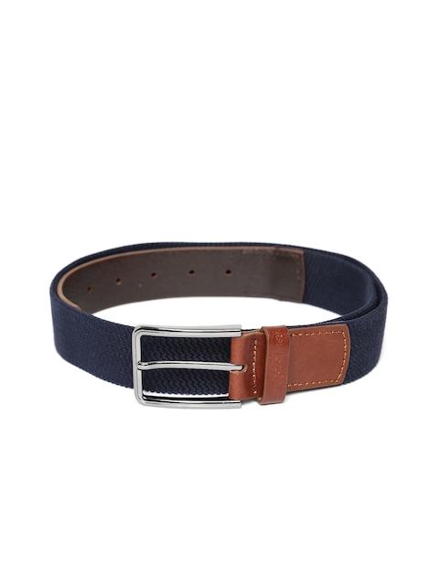 U.S. Polo Assn. Men Navy Blue & Brown Solid Belt