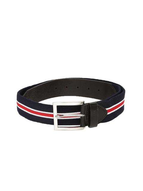 U.S. Polo Assn. Men Blue Textured Belt