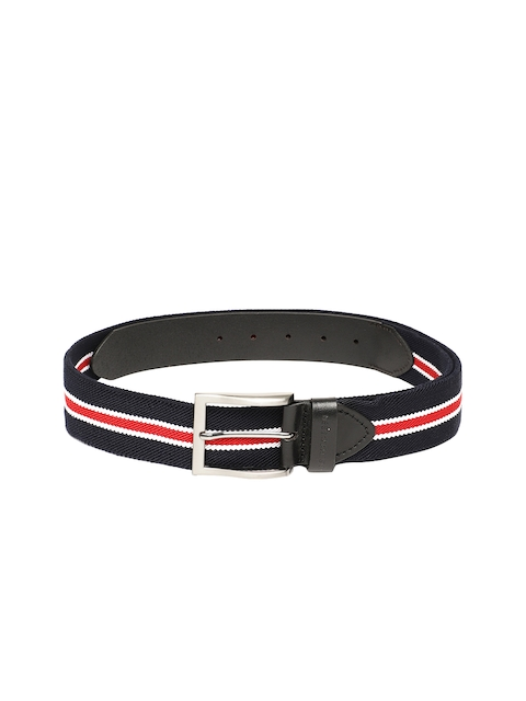 U.S. Polo Assn. Men Navy Blue Striped Belt