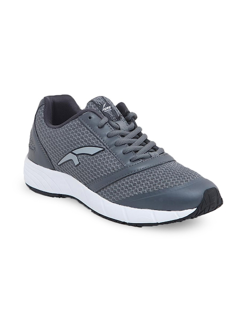 FURO by Red Chief Men Grey Mesh Mid-Top Walking Shoes W3003 PERISCOPE