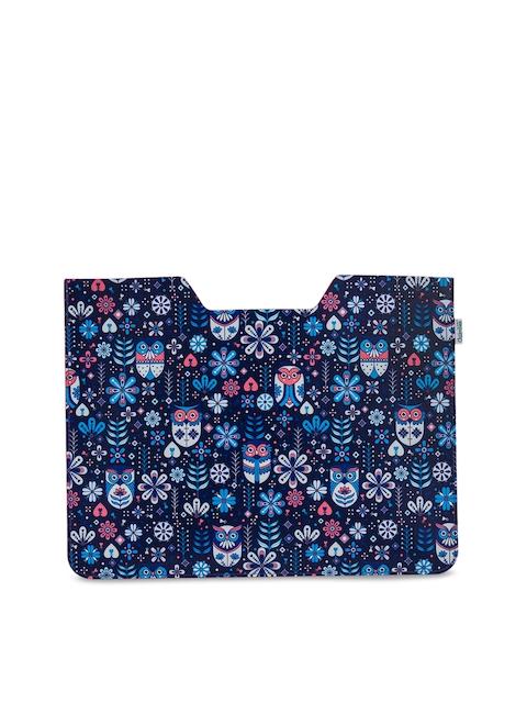 Chumbak Unisex Blue Printed Laptop Sleeve