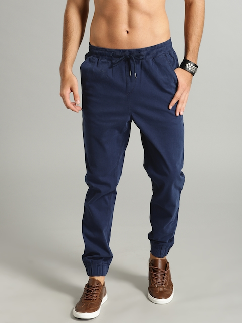 Roadster Men Blue Slim Fit Solid Joggers
