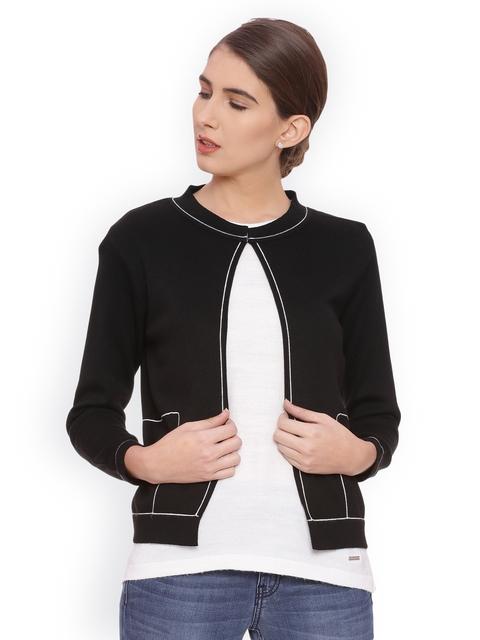 Van Heusen Woman Women Black And White Solid Top