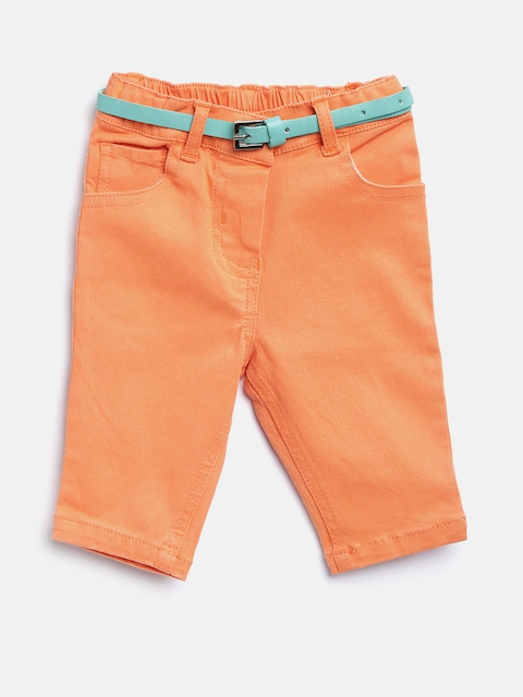 Nauti Nati Girls Orange Mid-Rise Clean Look Stretchable Jeans  available at myntra for Rs.380