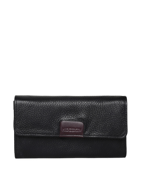Hidesign Women Black Solid Two Fold Wallet