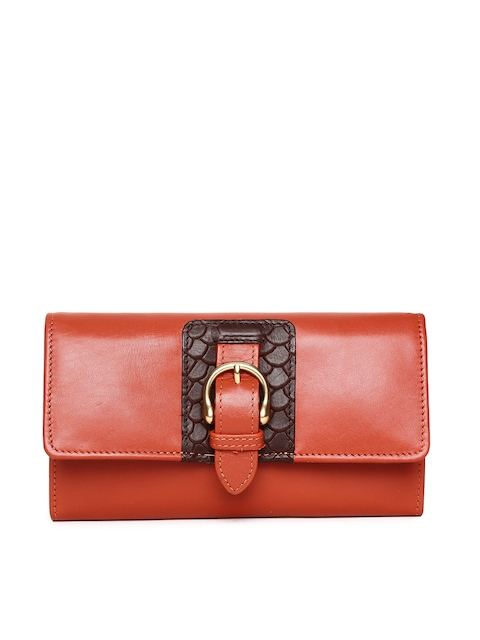Hidesign Women Rust Red Solid Two Fold Wallet