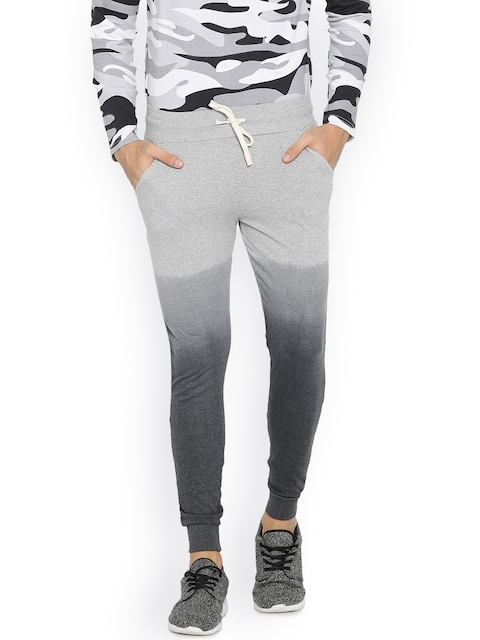 Campus Sutra Mens Charcoal Jogger Trousers