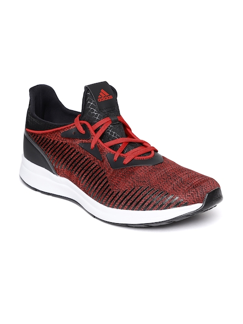 Adidas Men Black & Red Tylo Printed Running Shoes