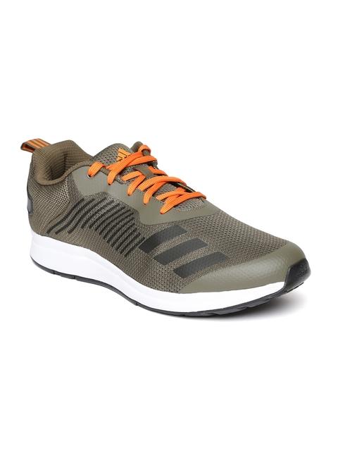 Adidas Men Olive Green Puaro Running Shoes