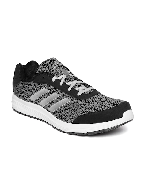Adidas Men Black & Grey NEBULAR 1.0 Running Shoes