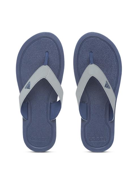 Adidas Men Grey STABILE Solid Thong Flip-Flops