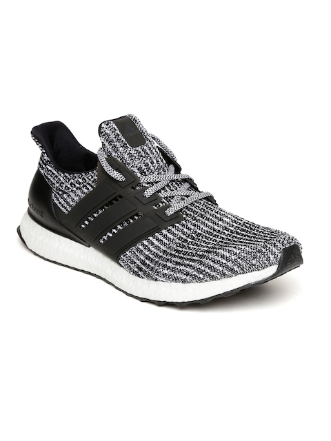 Adidas Men Black & White Ultraboost Running Shoes