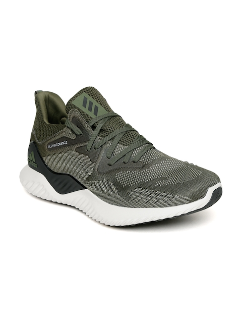 timeless design 86204 97e32 ADIDAS Men Olive Green ALPHABOUNCE BEYOND Running Shoes