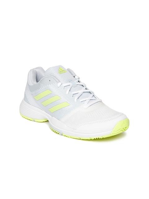 Adidas Women Blue & White BARRICADE CLUB Tennis Shoes