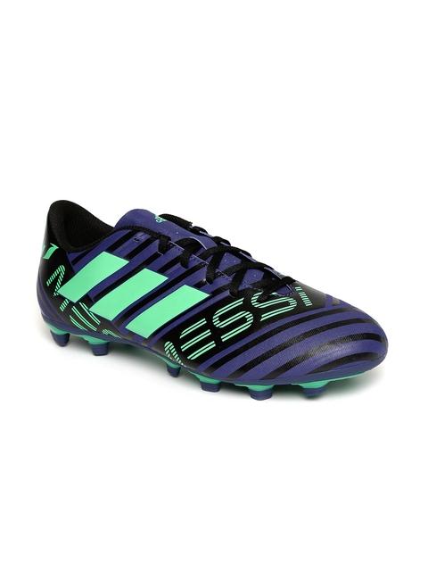 Adidas Men Blue & Green NEMEZIZ Messi 17.4 FXG Football Shoes