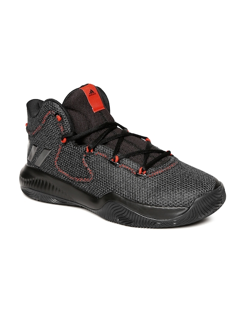 Adidas Men Black Synthetic High-Top CRAZY EXPLOSIVE TD Basketball Shoes