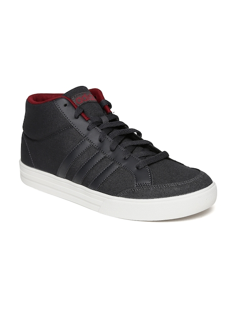 Adidas Men Black Solid Mid-Top Casual Shoes