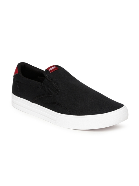 Adidas Men Black Solid Casual Shoes