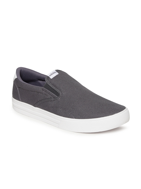 Adidas Men Grey Solid Casual Shoes