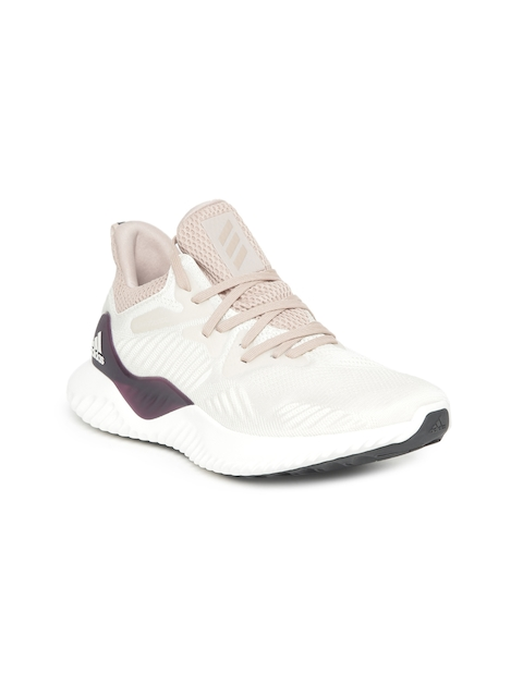 Adidas Women Beige & White ALPHABOUNCE BEYOND W Running Shoes