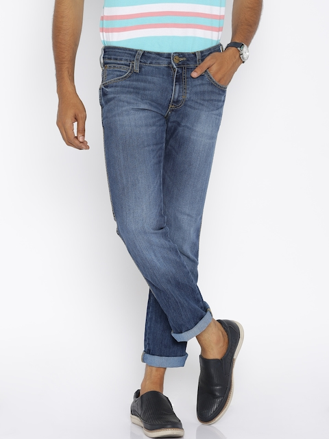 Wrangler Men Blue Skanders Slim Fit Jeans  available at myntra for Rs.958