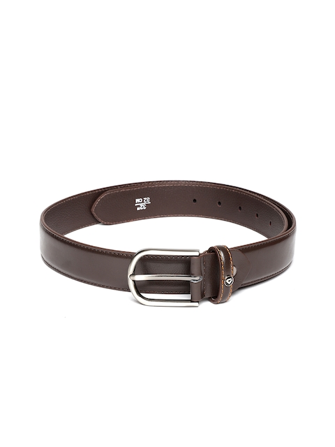 INVICTUS Men Coffee Brown Leather Belt