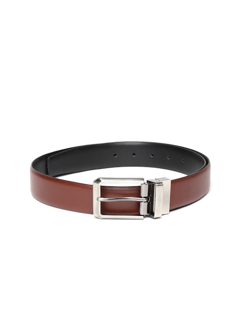 INVICTUS Men Brown & Black Reversible Solid Leather Belt