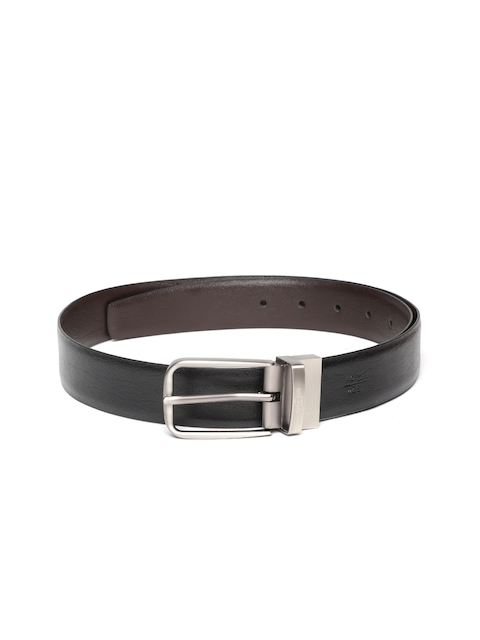 INVICTUS Men Black & Brown Reversible Solid Leather Belt