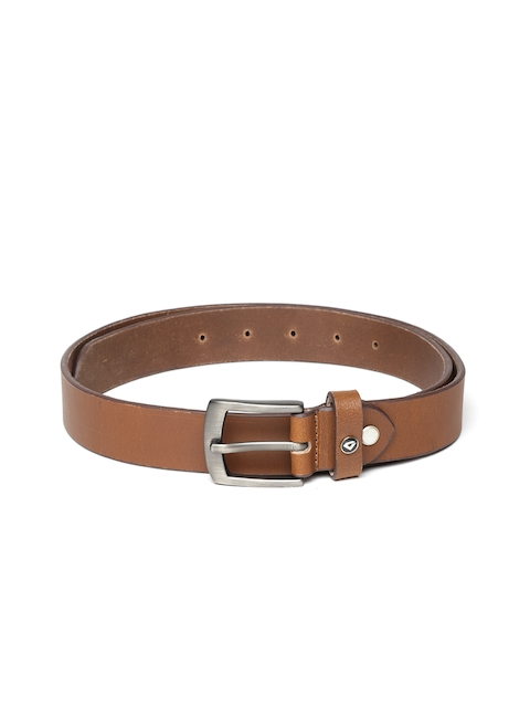 INVICTUS Men Brown Solid Leather Belt