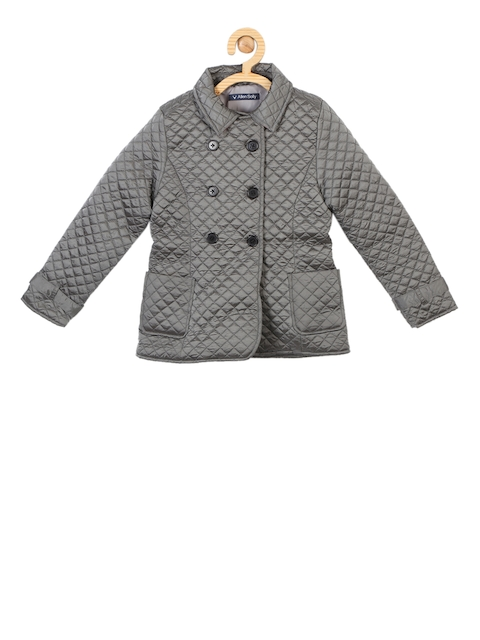 Allen Solly Junior Girls Grey Quilted Jacket