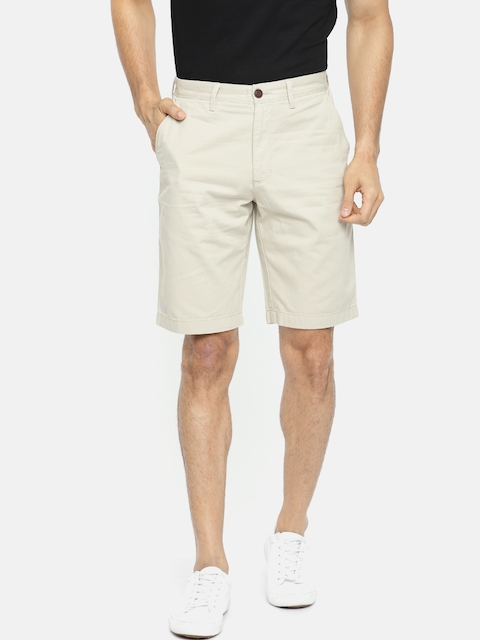 Indian Terrain Men Beige Solid Regular Fit Chino Shorts