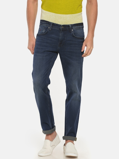 Indian Terrain Men Blue Brooklyn Slim Fit Low-Rise Clean Look Stretchable Jeans