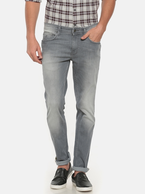 Indian Terrain Men Grey Kruger Skinny Fit Mid-Rise Clean Look Stretchable Jeans