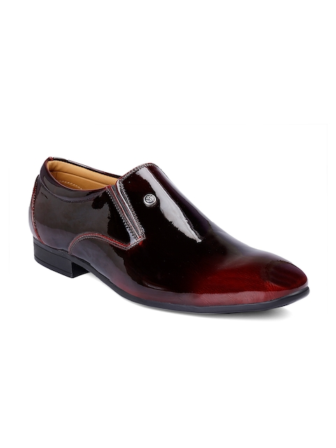 bacca bucci Men Maroon Slip-On Shoes