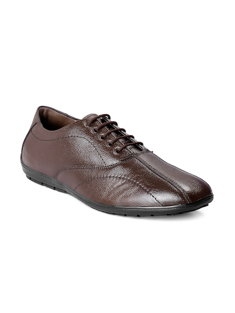 bacca bucci Men Brown Leather Formal Derbys