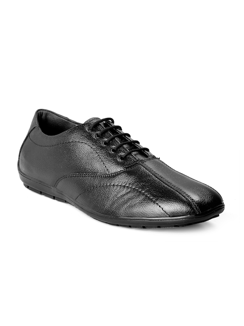 bacca bucci Men Black Leather Formal Derbys