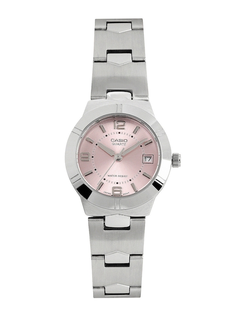 Casio Enticer Women Silver Analogue Watches (A873) LTP-1241D-4ADF  available at myntra for Rs.2045