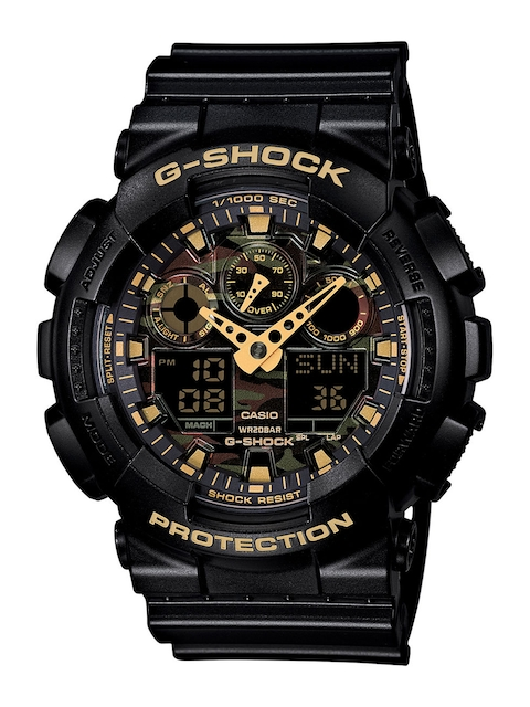 Casio G-Shock Men Black Analogue-Digital Watches (G519) GA-100CF-1A9DR  available at myntra for Rs.6795