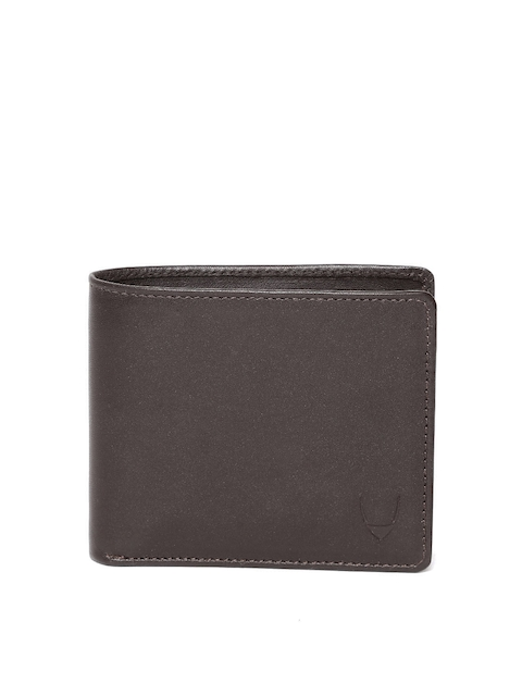 Hidesign Men Coffee Brown Leather Solid Two Fold Wallet