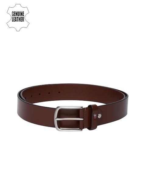 Louis Philippe Men Brown Genuine Leather Belt